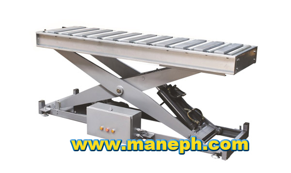 FREE ROLLER SCISSOR LIFT WITH LOCK